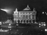 The Paris Opera House at Night Lámina fotográfica por Walter Sanders