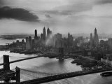 View of New York City Behind the Bridges That are Hovering over the East River Photographic Print by Dmitri Kessel
