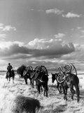 Location Shooting of Western Movie, Union Pacific, 1939 Fotoprint van Alfred Eisenstaedt