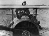 First Lt. Eddie Rickenbacker, 94th Aero Squadron, American Ace, Standing Up in Cockpit, WWI Premium Photographic Print by Gideon J. Eikleberry