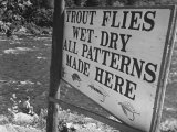 Trout: Wet - Dry All Patterns Made Here Between North Creek and North River, Hudson River Valley Reproduction photographique par Margaret Bourke-White