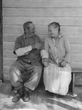 Elderly Couple Holding Hands Photographic Print by Peter Stackpole