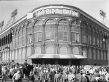 Fans Leaving Ebbets Field after Brooklyn Dodgers Game. June, 1939 Brooklyn, New York Stretched Canvas Print by David Scherman