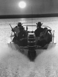 Police Patrolling the Waters Between Mexico and the US Looking for Marijuana Smugglers Photographic Print by Co Rentmeester