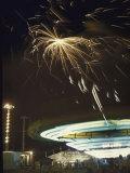 Fireworks Exploding over Iowa State Fair Fotografisk trykk av John Dominis