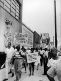 Negro Demonstration for Strong Civil Right Plank Outside Gop Convention Hall Photographic Print by Francis Miller