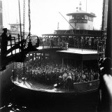 Commuters Crowded Aboard Staten Island Ferry Photographic Print by Andreas Feininger