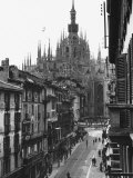 View of the Landscape of Milan with the Cathedral Dominating the Background Photographic Print by Carl Mydans