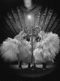 Girls Signing Inside the Latin Quarter Night Club Photographic Print by Yale Joel