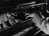 Hands of Jazz Pianist Eddie Heywood on Keyboard During Jam Session Premium Photographic Print by Gjon Mili