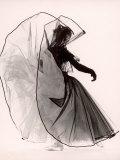 "Dancer Tanaquil Leclercq Performing ""La Valse"" at Gjon Mili's Studio Impressão fotográfica premium por Gjon Mili"