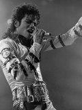 Michael Jackson Performing Premium fotografisk trykk