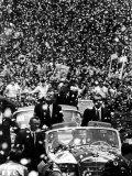 Pres. John F. Kennedy and Adolfo Lopez Fotografisk trykk av John Dominis