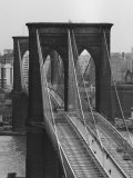 Brooklyn-broen, New York Fotografisk tryk af Andreas Feininger