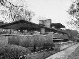 Exterior of Robie House Designed by Frank Lloyd Wright Fotografie-Druck