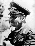 Profile of General Erwin Rommel, Commander of German Forces in Africa Stampa fotografica