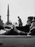 Pres. John F. Kennedy W. Gen. Paul Adams, During Tour of a Pershing Missile at Fort Bragg Photographic Print
