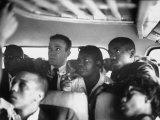 Freedom Riders on a Bus Making a Test Trip into Mississippi Lámina fotográfica prémium