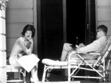 Mrs. John F. Kennedy with Mr. John Kenneth Galbraith During Her Tour of India Photographic Print