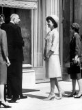 Mrs. John F. Kennedy at Diplomatic Reception During Paris Visit with Charles Degaulle Photographic Print