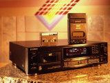Sony's Dat Tape Deck, Walkman Portable Cassette Player and Blank Dat Cassette Fotoprint van Ted Thai