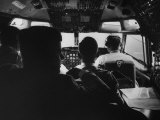 Sen. John F. Kennedy with His Staff on His Presidential Campaign Plane Reproduction photographique