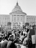 Yippie Led Anti-Election Protestors Outside City Hall Photographic Print by Ralph Crane
