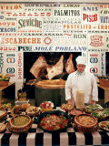 Chef and Food at the La Fonda Del Sol Restaurant Photographic Print by Yale Joel