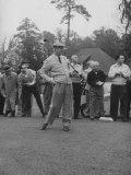 Pres. Dwight D. Eisenhower, Golfing Fotografisk tryk