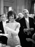 Jacquelin Kennedy Attending Luncheon W. Many Diginitaries Including French Pres. Charles Degaulle Photographic Print