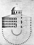 Panopticon -Prison Design by Jeremy Bentham Fotografisk tryk