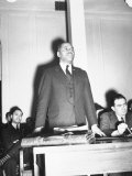Charles H. Houston of Harvard University, Making a Plea for Use of Central High Auditorium Photographic Print