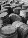 Barrels Sitting in Warehouse at Jack Daniels Distillery Reproduction photographique par Ed Clark