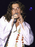 Musician Michael Hutchence of Rock Group Inxs Performing Premium Photographic Print by David Mcgough