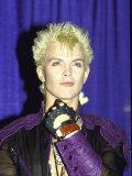 Musician Billy Idol Premium fototryk af David Mcgough