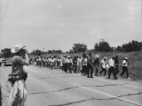 Civil Rights Demonstrators Marching to Encourage Voter Registration Photographic Print