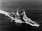 American Heavy Cruiser Uss Indianapolis at Sea Lámina fotográfica