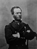 Portrait of William Tecumseh Sherman, Union General During the Civil War Reproduction photographique