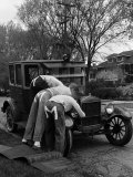 Teenaged Boys Working on a 1927 Ford Model T Photographic Print by Nina Leen