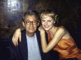Photographer Helmut Newton and Model Eva Herzigova Premium Photographic Print by Dave Allocca