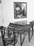 Piano on Which Composer Wolfgang A. Mozart Played from 1780 Until His Death in 1791 Photographic Print
