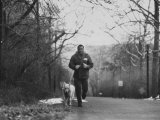 Boxer Joe Frazier Training for a Fight Against Cassius Clay, Aka Muhammad Ali Premium Photographic Print