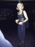 Actress Tatum O'Neal in See-Through Navy Blue Dress Premium Photographic Print by Dave Allocca