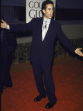 Comedian Jerry Seinfeld at Golden Globe Awards Premium fototryk af Mirek Towski
