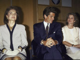 Jacqueline Kennedy Onassis and Her Children John F. Kennedy Jr. and Caroline Kennedy Schlossberg Premium Photographic Print