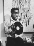 """Actor Sammy Davis Jr. on TV Show """"The Big Party"""" Premium Photographic Print by Peter Stackpole"""