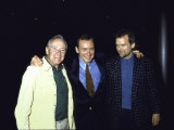 Actors Jack Lemmon and Kevin Spacey with Director James Foley Premium fototryk
