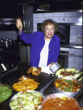 Television Cooking Expert Julia Child at Opening of Restaurant Eatzi's Premium Photographic Print by Dave Allocca