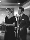 """Actors Lauren Bacall and Kirk Douglas in """"Young Man with a Horn"""" During Production Premium Photographic Print by Alfred Eisenstaedt"""