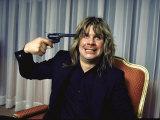 Rock Musician Ozzy Osbourne Premium fototryk af David Mcgough